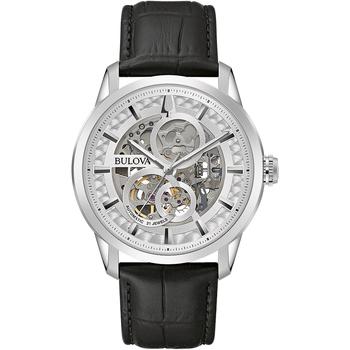Ceasuri & Bijuterii Bărbați Ceasuri Analogice Bulova 96A266, Automatic, 43mm, 3ATM Argintiu