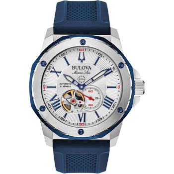 Ceasuri & Bijuterii Bărbați Ceasuri Analogice Bulova 98A225, Automatic, 44mm, 20ATM Argintiu