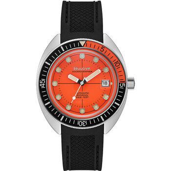 Ceasuri & Bijuterii Bărbați Ceasuri Analogice Bulova 96B350, Automatic, 41mm, 20ATM Argintiu