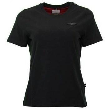 Îmbracaminte Femei Tricouri mânecă scurtă Aeronautica Militare TS1755 Negre