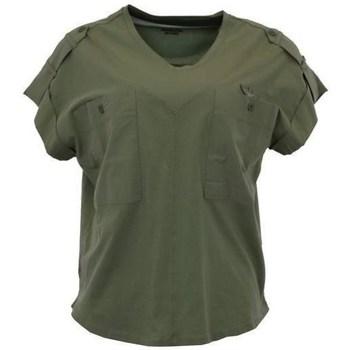 Îmbracaminte Femei Tricouri mânecă scurtă Aeronautica Militare TS1883 Verde