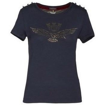 Îmbracaminte Femei Tricouri mânecă scurtă Aeronautica Militare 202TS1809DJ41408 Albastru marim