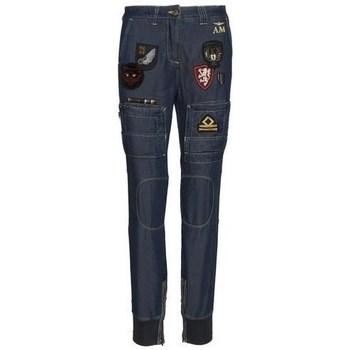 Îmbracaminte Femei Pantaloni  Aeronautica Militare PA1447DCT287213 Albastru marim