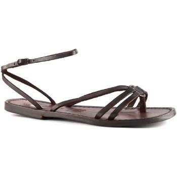 Pantofi Femei Sandale  Gianluca - L'artigiano Del Cuoio 535 D MORO CUOIO Testa di Moro