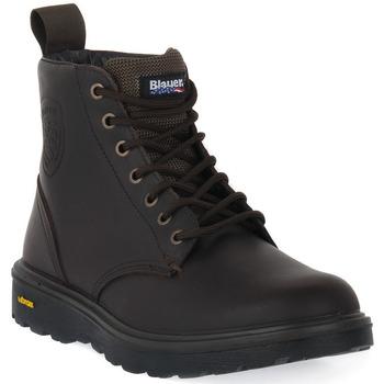 Pantofi Bărbați Ghete Blauer DKB GUANTANAMO 6 Marrone