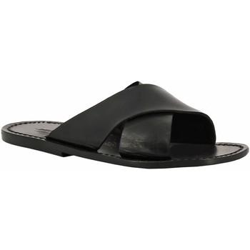 Pantofi Femei Papuci de vară Gianluca - L'artigiano Del Cuoio 560 U NERO CUOIO nero