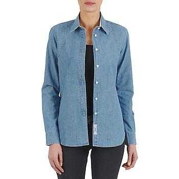 Îmbracaminte Femei Cămăși și Bluze Kulte CHEMISE CIRCUIT 101826 BLEACH Albastru