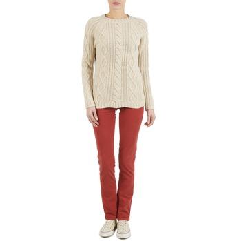 Îmbracaminte Femei Pantalon 5 buzunare Kulte PANTALON PLANCHER 101819 ROUGE Roșu