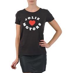 Îmbracaminte Femei Tricouri mânecă scurtă Kulte LOUISA JOLIEMOTOR 101954 NOIR Negru