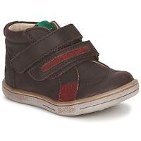 Pantofi Băieți Ghete Kickers TAXI Maro / Roșu