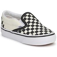 Pantofi Copii Pantofi Slip on Vans CLASSIC SLIP ON KIDS Negru / Alb