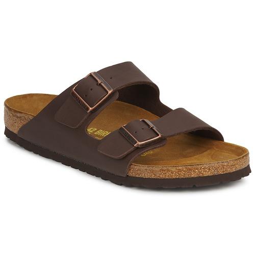 Pantofi Bărbați Papuci de vară Birkenstock ARIZONA LARGE FIT Maro / Culoare închisă