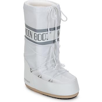 Pantofi Femei Cizme de zapadă Moon Boot CLASSIC Alb / Argintiu