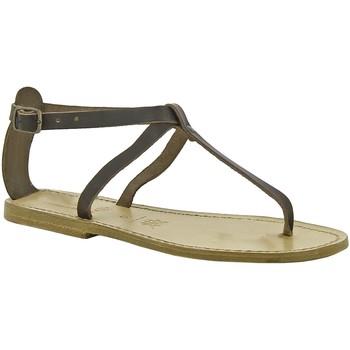 Pantofi Femei Sandale  Gianluca - L'artigiano Del Cuoio 582 D MORO LGT-CUOIO Testa di Moro
