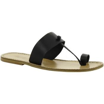 Pantofi Femei Papuci de vară Gianluca - L'artigiano Del Cuoio 554 U NERO LGT-CUOIO nero