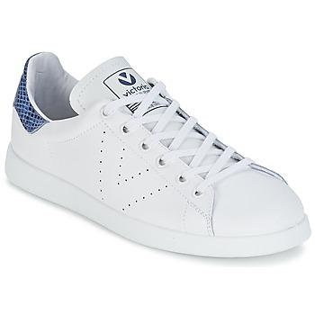 Pantofi Pantofi sport Casual Victoria DEPORTIVO BASKET PIEL Alb / Albastru