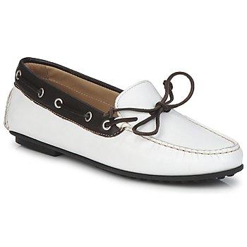 Pantofi Femei Mocasini Ecco KAYLOR Shadow / White / Coffee
