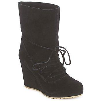 Pantofi Femei Botine Chinese Laundry PENNY CROSSING Suede / Black