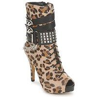 Pantofi Femei Botine Abbey Dawn PLATFORM BOOTEE Leopard / Print