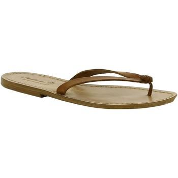 Pantofi Femei Papuci de vară Gianluca - L'artigiano Del Cuoio 540 D CUOIO CUOIO Cuoio