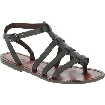 Pantofi Bărbați Sandale  Gianluca - L'artigiano Del Cuoio 505 D MORO CUOIO Testa di Moro