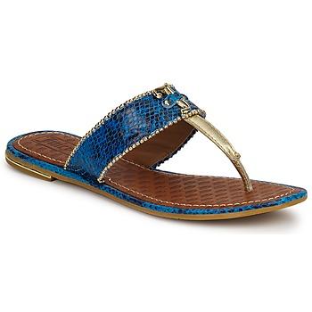 Pantofi Femei Sandale și Sandale cu talpă  joasă Juicy Couture ADELINE Bright / Blue / Snake