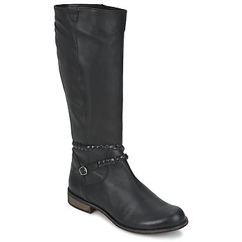Încăltăminte Femei Cizme casual So Size BERTOU Negru