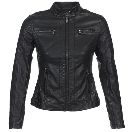 Îmbracaminte Femei Jachete din piele și material sintetic Moony Mood IDESCUNE Negru