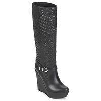Pantofi Femei Cizme casual Versace DSL909R Negru