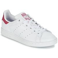 Pantofi Fete Pantofi sport Casual adidas Originals STAN SMITH J Alb