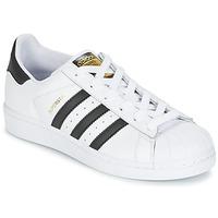 Pantofi Copii Pantofi sport Casual adidas Originals SUPERSTAR J Alb / Negru