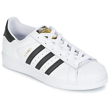 Încăltăminte Copii Pantofi sport Casual adidas Originals SUPERSTAR J Alb / Negru