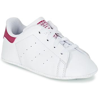 Pantofi Fete Pantofi sport Casual adidas Originals STAN SMITH CRIB Alb / Roz