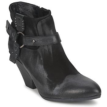 Pantofi Femei Botine Strategia SANGLA Negru / Argintiu