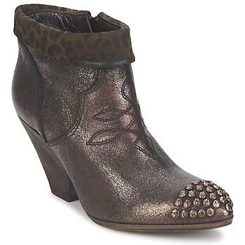 Pantofi Femei Botine Strategia AILLA Kaki / Aluminium