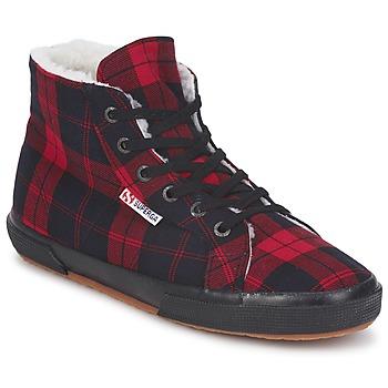 Pantofi Pantofi sport stil gheata Superga 2095 Roșu / Negru
