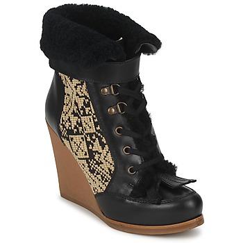Pantofi Femei Botine Etro DENISE Negru / Bej