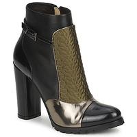 Pantofi Femei Botine Etro FEDRA Negru / Kaki / Argintiu