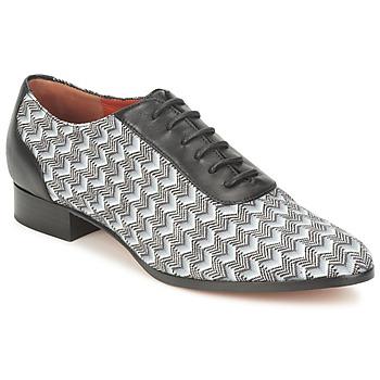 Încăltăminte Femei Pantofi Oxford Missoni WM076 Negru / Gri