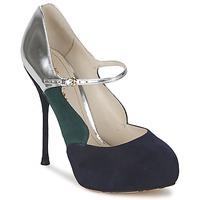 Pantofi Femei Pantofi cu toc John Galliano AO2179 Negru / Gri