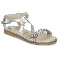 Încăltăminte Fete Sandale și Sandale cu talpă  joasă Garvalin COSMOS Argintiu