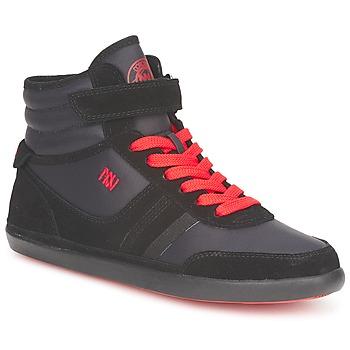 Încăltăminte Femei Pantofi sport stil gheata Dorotennis MONTANTE STREET LACETS + VELCRO Negru
