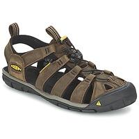 Pantofi Bărbați Sandale sport Keen CLEARWATER CNX LEATHER Maro / Negru
