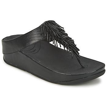 Încăltăminte Femei  Flip-Flops FitFlop CHACHA Negru