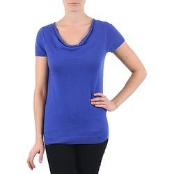 Îmbracaminte Femei Tricouri mânecă scurtă La City PULL COL BEB Albastru