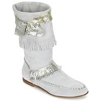 Încăltăminte Femei Cizme casual Now MATELI Gri / Argintiu