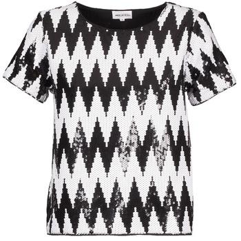 Îmbracaminte Femei Tricouri mânecă scurtă American Retro GEGE Negru / Alb