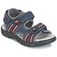 Încăltăminte Fete Sandale sport Geox S.STRADA A Bleumarin / Roșu