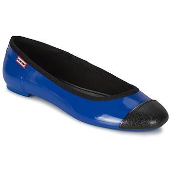 Pantofi Femei Balerin și Balerini cu curea Hunter ORIGINAL BALLET FLAT  cobalt-fuxia