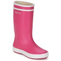 Pantofi Fete Cizme de ploaie Aigle LOLLY-POP Roz / Alb